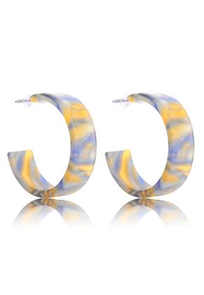 www.sayila-perlen.de - Kunststoff offen Ohrringe Creolen 33x10mm