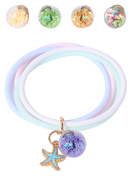 www.sayila.com - Silicone anti mosquito bracelet with starfish 22x4cm - J08372