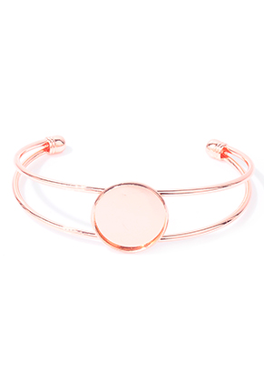 www.sayila.be - Metalen cuff armband 19cm met kastje voor 20mm plaksteen