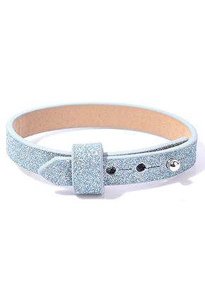 www.sayila.nl - DoubleBeads EasySlide imitatieleren armband met glitter
