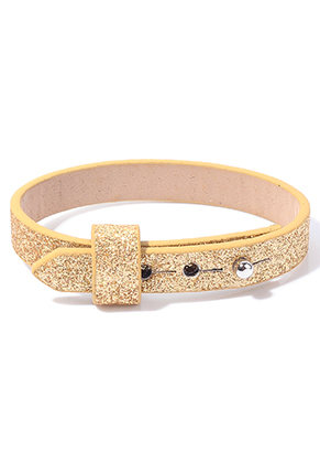 www.sayila.com - DoubleBeads EasySlide imitation leather bracelet with glitter