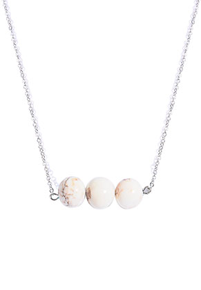 www.sayila.com - Necklace with natural stone beads Howlite 45-50cm
