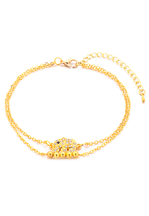 www.sayila.fr - Bracelet/bracelet de cheville avec éléphant 23-29cm