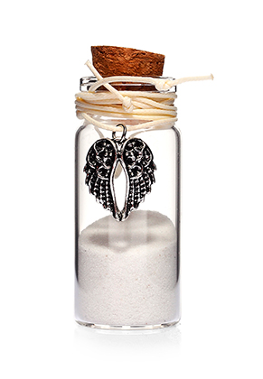 www.sayila.com - Glass wish bottle with necklace wings 54x22mm