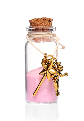 www.sayila.es - Botella de deseo (Wish bottle) de vidrio con pulsera elfo 54x22mm