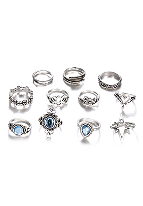 www.sayila-perles.be - Mélange de bagues en métal Ø 15-17mm