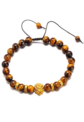 www.sayila.com - Natural stone bracelet Yellow Tiger Eye 21-31cm