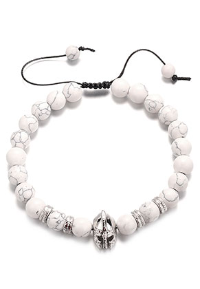 www.sayila.co.uk - Natural stone bracelet Howlite 21-31cm