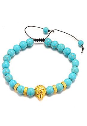 www.sayila.es - Pulsera de piedras naturales Turquoise Howlite 21-31cm