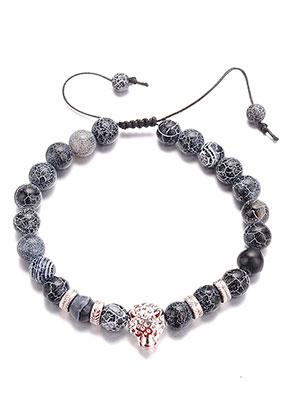 www.sayila.com - Natural stone bracelet Agate crackle 21-31cm