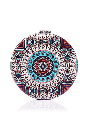 www.sayila.com - Synthetic pocket-mirror round mandala print 7x1,5cm