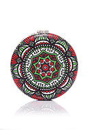 www.sayila.com - Synthetic pocket-mirror round mandala print 7x1,5cm - J08851