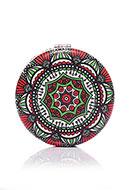 www.sayila-perles.be - Miroir de poche en synthétique ronde imprimé mandala 7x1,5cm - J08851