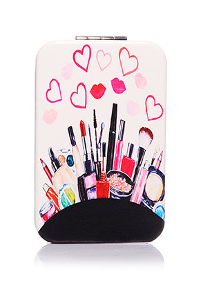 www.sayila.com - Synthetic pocket-mirror rectangle make-up print 9x6x1cm