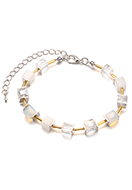 www.sayila.com - Bracelet with glass beads 19-24cm - J08902
