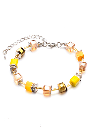 www.sayila.be - Armband met glaskralen 19-24cm