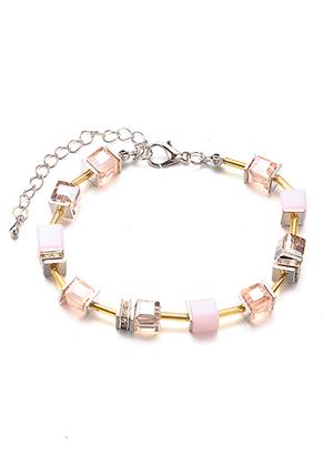 www.sayila.com - Bracelet with glass beads 19-24cm