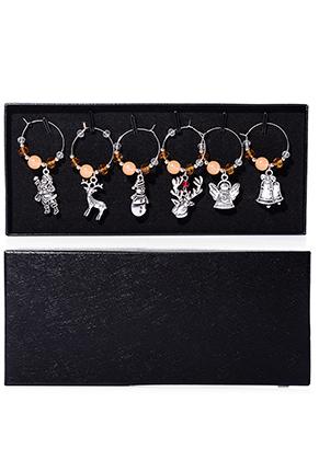 www.sayila.com - Set of wine glass jewelry/ wine charms Christmas 5,5x2,5cm