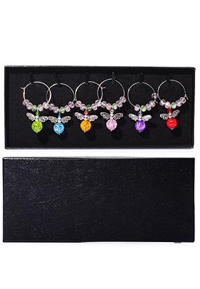 www.sayila.com - Set of wine glass jewelry/ wine charms angels 5x2,5cm