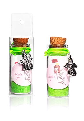 www.sayila.nl - Glazen wensflesje (Wish bottle) met armband engel 54x22mm
