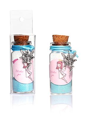 www.sayila-perlen.de - Glas Wunschflasche (Wish bottle) mit Armband Elfe 54x22mm