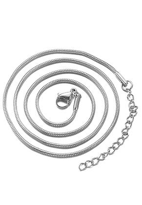 www.sayila.nl - Roestvrijstalen halsketting 45-50cm, 1,5mm dik