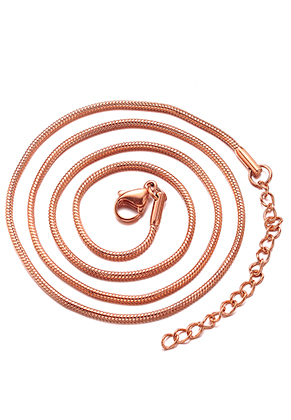 www.sayila.com - Stainless steel necklace 45-50cm, 1,5mm thick