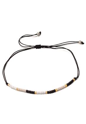 www.sayila.nl - Ibiza Style armband met glaskralen 17-29cm