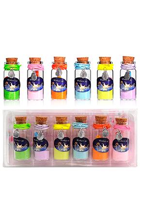 www.sayila-perlen.de - Mix Glas Wunschflaschen (Wish bottles) mit Armbänder Muschel 54x22mm