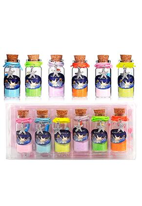 www.sayila.com - Mix glass wish bottles with bracelets starfish 54x22mm