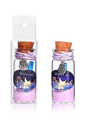 www.sayila-perlen.de - Glas Wunschflasche (Wish bottle) mit Armband Muschel 54x22mm