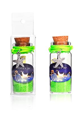 www.sayila.nl - Glazen wensflesje (Wish bottle) met armband zeester 54x22mm