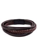 www.sayila.be - Imitatieleren armband 22cm - J09038