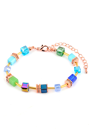 www.sayila.com - Bracelet with glass beads 19-24cm