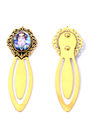 www.sayila.co.uk - Metal bookmark with cabochon girl 75x24mm - J09208