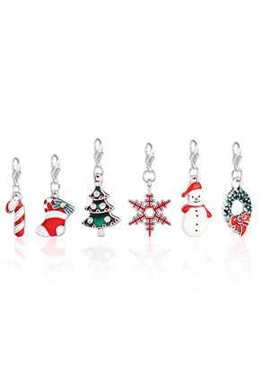 www.sayila-perlen.de - Mix EasyCharm Anhänger Weihnachten mit Verschluss 38x14mm