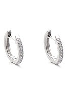 www.sayila.co.uk - Brass hoop earrings with zirconia 14x13mm - J09310