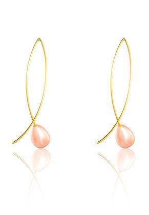 www.sayila-perles.be - Boucles d'oreilles avec nacre 45x8mm