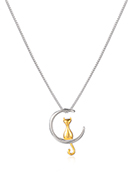 www.sayila-perles.be - Collier avec chat et lune 45cm - J09399