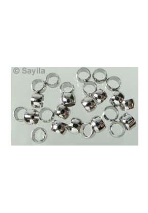 www.sayila-perlen.de - BudgetPack Metall Quetschperle ± 3mm (± 115 St.)