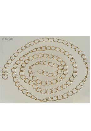 www.sayila.com - Chain aluminum ± 100cm (link ± 12x8mm)
