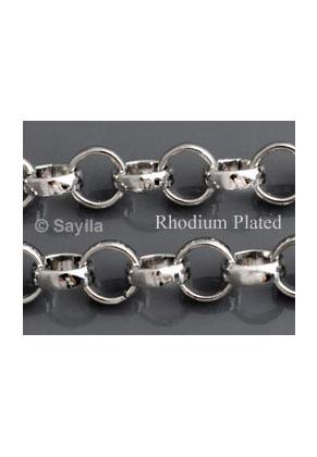 www.sayila.es - Cadena Rhodium Plated, eslabón 5mm (100cm)