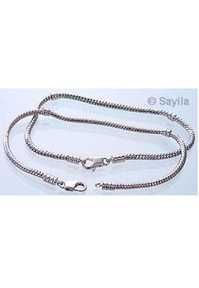 www.sayila.fr - Bracelet de métal style grand-trou ± 21cm (3mm + 4,5mm gros) avec fermoir et 4x filet de vis