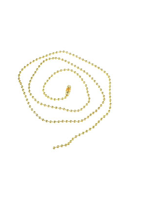 www.sayila.com - Metal necklace ball chain ± 60cm (2,4mm wide) with clasp