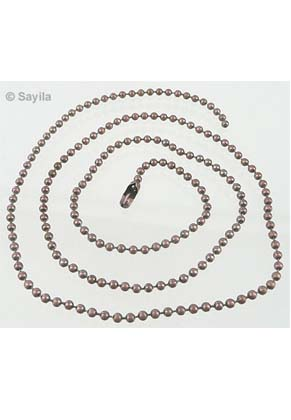 www.sayila.nl - Metalen halsketting, ball chain (bolletjesketting) ± 50cm (2,4mm dik) met sluiting