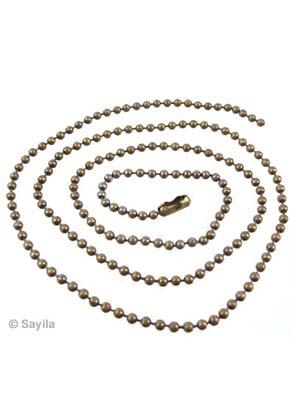 www.sayila-perlen.de - Metall Halskette, ball chain (Kugelkette) ± 50cm (2,4mm Umfang) mit Verschluß