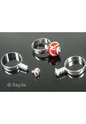 www.sayila.nl - Metalen vingerring voor groot-gat-style kraal/groot gat kraal ± 18mm (zonder kraal)