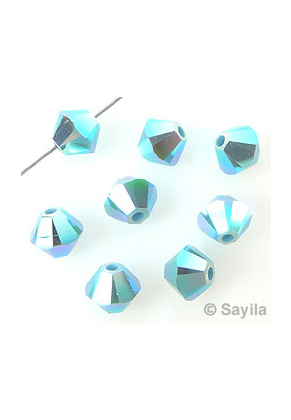 **25 perles toupies 4 mm  SWAROVSKI CRYSTAL MOONLIGHT 5328 **