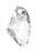www.sayila.nl - SWAROVSKI ELEMENTS hanger/bedel 6656 Galactic Vertical onregelmatig 19x11mm