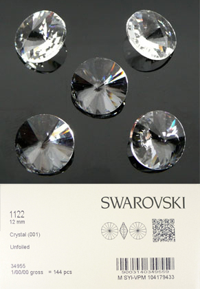 www.sayila.nl - SWAROVSKI ELEMENTS similisteen 1122 Rivoli Chaton konisch 12mm